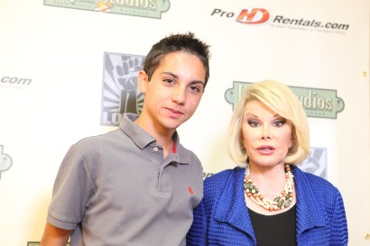 Step and Repeat at Loyal Studios with Joan Rivers