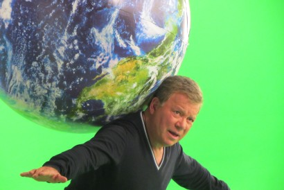 William Shatner on Set