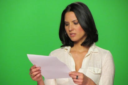 Talent Reading Script on Green Screen