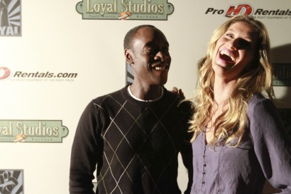 gisele bundchen and Don Cheadle on the step and repeat at loyal studios