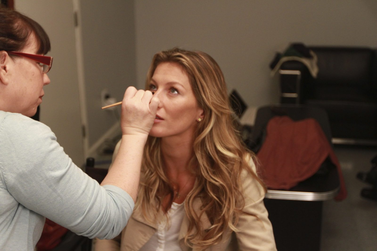 Behind the scenes with gisele bundchen at Loyal Studios