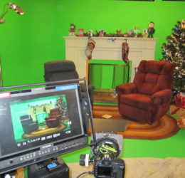 christmas set loyal studios green screen