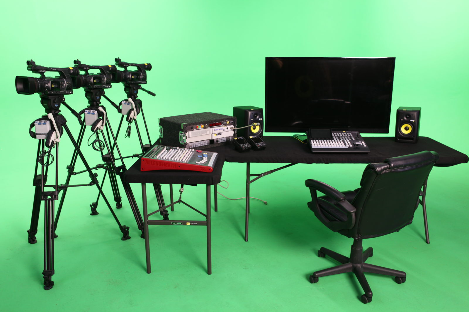 Chroma key green screen equipment rental