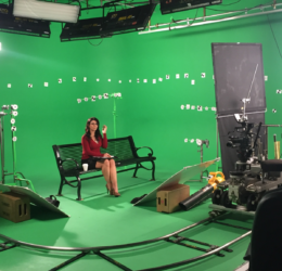 Decorated Green Screen loyal studios