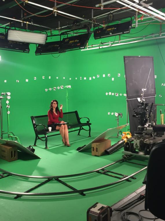 Decorated Green Screen loyal studios