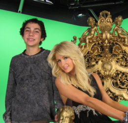 paris hilton green screen loyal studios